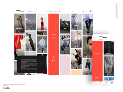 Gallery web and mobile. Gaining attention with color usage mobile