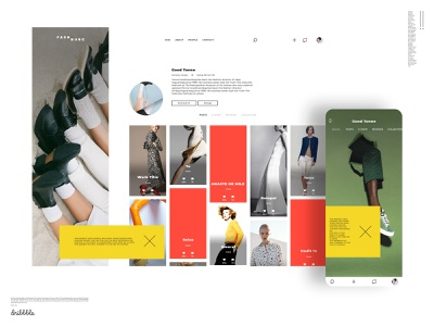 Artist portfolio web and mobile. Gaining attention with color us mobile