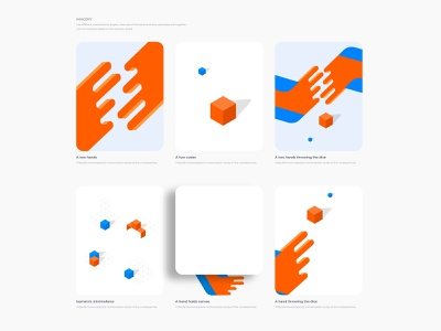 Imagery guidelines. Design system basics illustrations product design
