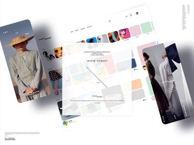 Case cover. Gallery web with horizontal scroll and welcome mobil mobile