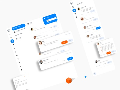 Posts moderation and Requests moderation mobile UI. Filtering an web product design