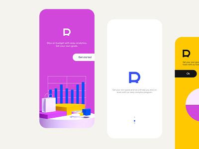 Revolut logomark concept. Etude with mobile. Letter R logo mobile