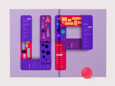 Up Syndrome Lab Behance cover words mobile app