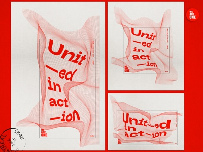 Unit—ed in act—ion. Poster identity