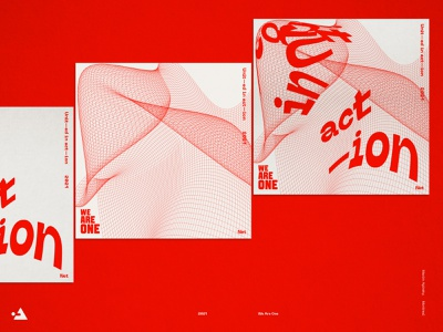 Unit—ed in act—ion. Poster for We Are One. product design
