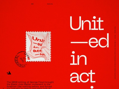 Unit—ed in act—ion poster product design