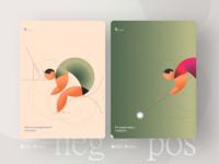 Opposites. Personas UX product design illustration