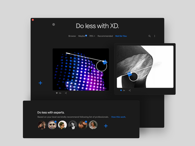 Do less with XD. Dark theme