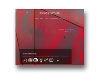 Do less with XD. BG image theme