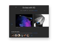 Do less with XD. Grey theme