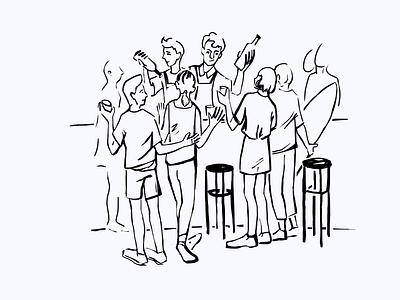 Illustration for Bacardi Bar draw design illustration