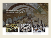 Orsay museum website redesign