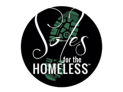 Soles for the Homeless circle design illustrator logo