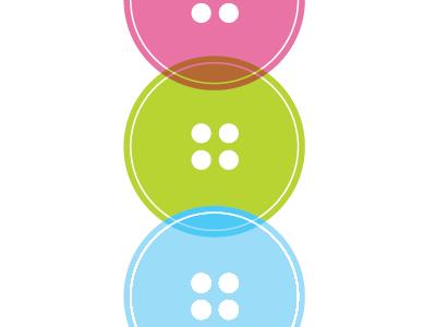 Postcard buttons colors illustrator design postcard