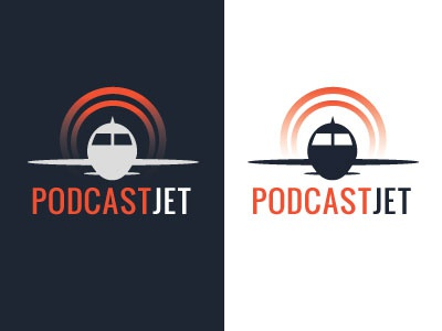 Podcast Jet Logo podcast drawing illustrator design logo
