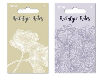 Nostalgic Notes illustrator design flowers packaging design card