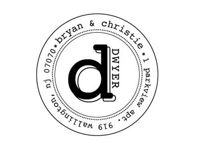 Stamp Design married illustrator design address stamp