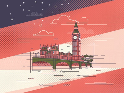 LONDON ART city london underground big ben london bridge london vector illustration vector art vectors vector sunsets sunset colorful colors color monoline illustration art illustrations illustration illustraion illustrator