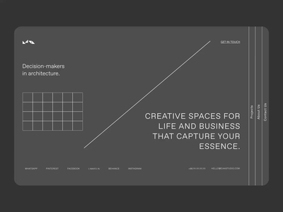 Cube: Architecture Agency architecture vector landing page 2021 ui ux design branding logo motion graphics graphic design animation