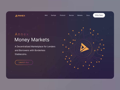 ANNEX: A decentralized Marketplace cryptocurrency crypto stablecoins borrow lend coin marketplace decentralized marketplace motion graphics graphic design animation vector logo illustration landing page 2021 branding ui ux design