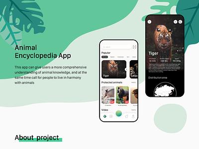 animal encyclopedia app design 1 animal encyclopedia design app ui