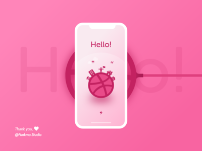 Hello Dribble! thanks invite iphone x hello dribbble debuts first shot