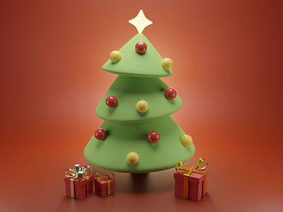 Christmas Tree fanart lowpoly art render design illustration blender3d blender 3dart 3d