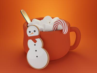 Hot Chocolate art fanart render design lowpoly illustration blender3d blender 3dart 3d
