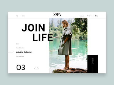 Zara E-commerce Redesign website concept pattern redesign concept redesigned redesign webdesign minimal minimalist trend website concept fashion shopping e-commerce ecommerce ux  ui ux branding ui design