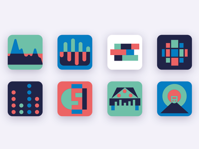 Modern Icons concept flat app design minimal icon vector illustration logo ui design