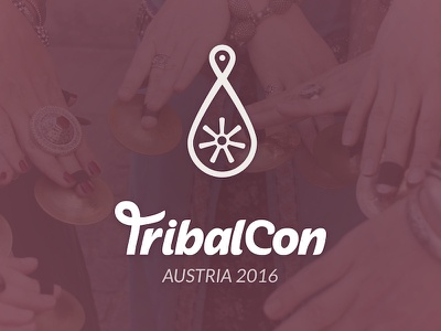 Logo for the Austrian TribalCon 2016 tribal style belly dance typography logo