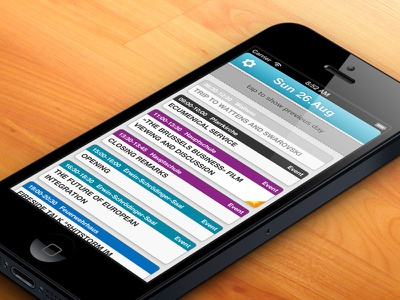 Conference App Events web app iphone efa