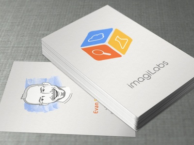 ImagiLabs Business Cards corporate identity logo business cards playfull education