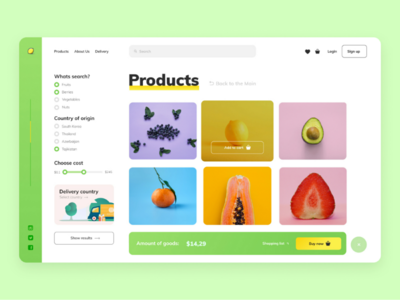 Taste the Health | Products concept