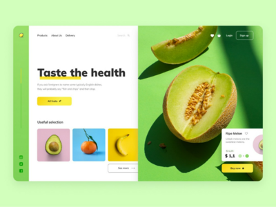 Taste The Health | Main concept