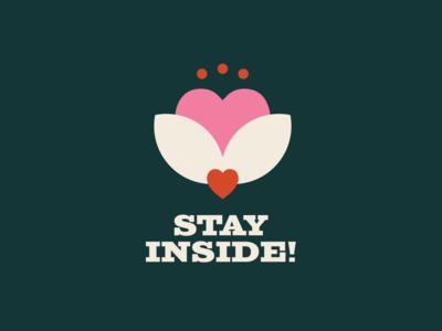 Stay Inside! western vintage retro design covid19 quarantine illustration