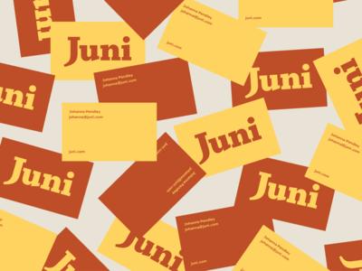 Juni Business Cards business cards design brand startup business cards food digital marketing digital illustration agency agency website agency branding vector design branding illustration