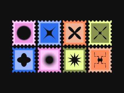 Stamps! digital illustration abstract stamp logo vector branding design illustration