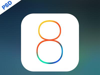 IOS 8 Official Logo... ios8 ios logo free psd ui ux freebies iphone