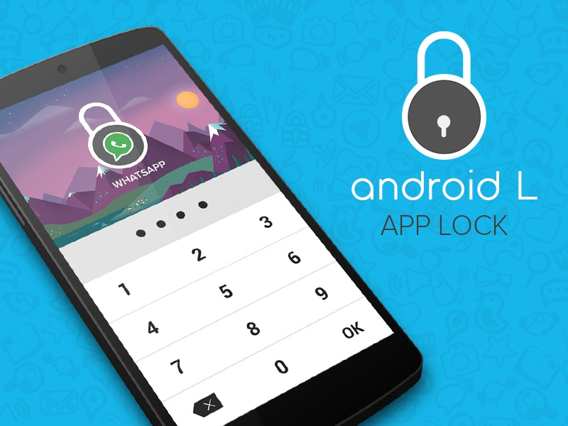 Android L Application Locker android l lollipop app design ui ux