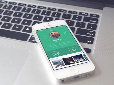 iOS User Profile Screen creative creativeboxx profile ios app cool minimal flat design ux ui