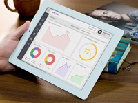Free iPad Dashboard PSD..