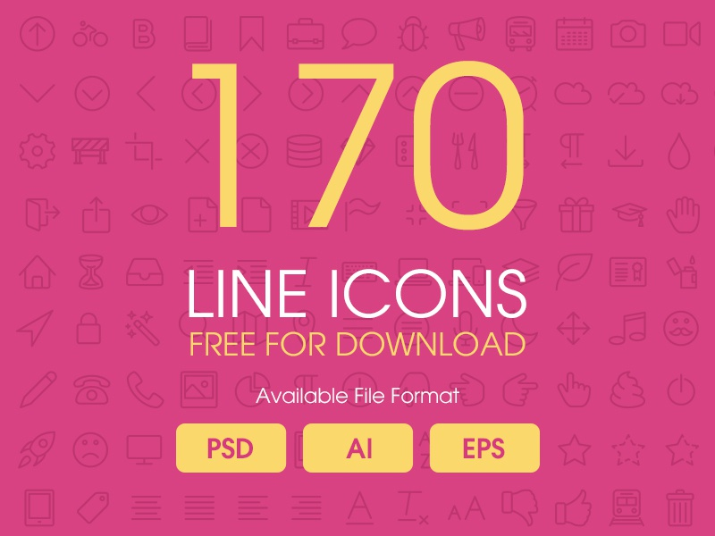 Line Icons  creativeboxx lineicon download free ai eps psd icon design ux ui