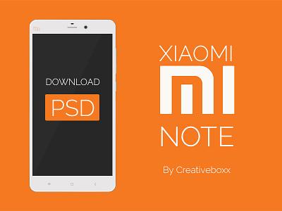 Xiaomi Mi Note PSD Download phone ux download psd mockup ui design mobile device