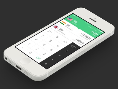 Currency Converter App for iOS creativeboxx boxx creative app converter currency ios design ux ui