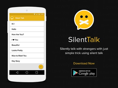 Silent Talk Android App creative pixel talk silent design android ux ui app