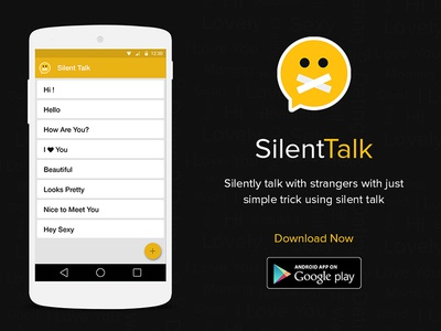 Silent Talk Android App creative pixel talk silent design android ux ui app