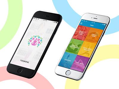 Yoga App Initial Design creative pixel yoga splash design ios ux ui app
