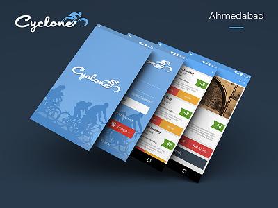 Ahmedabad Cyclothon Even App creative pixel event cyclothon design android ux ui app