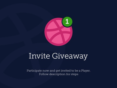 1 Invite Giveaway creativeboxx player shot giveaway away give invite dribbble ux ui